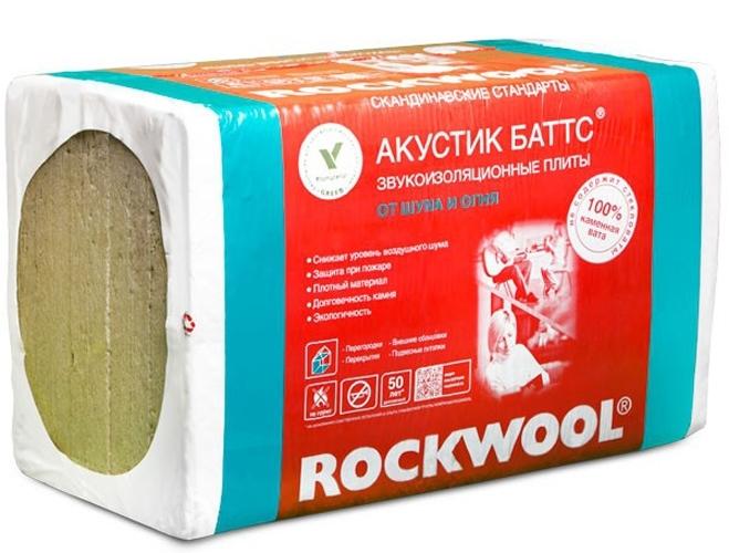 Базальтовый утеплитель Rockwool Акустик Баттс 1000х600х50 / 10 шт.